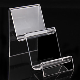 Wholesale Jewelry Ring Stand Clear - 10*7*11.5cm cellphone holder clear acrylic bracelets bangles watch wallet display rack jewelry holder with new nice design A90