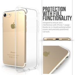 Wholesale Apple Iphone Size - For Iphone 7 Plus Iphone 6S Plus TPU Case Crystal Clear Protective Cover 0.7MM Exact Size fit Iphone 7 Plus Top Quality