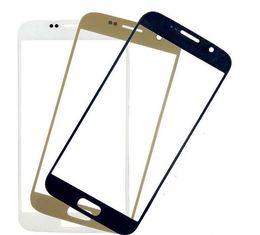 2019 iphone 6s logement de remplacement Pour samsung S7 Or Bleu (noir) Blanc Remplacement LCD Lentille extérieure en verre à écran tactile avant pour Samsung S7 G930 G9300