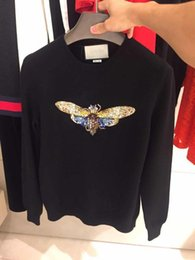 Wholesale Multi Color Bead Crystals - Top Quality CC butterfly designer famous luxury italian brand G winter Sweaters knitwear sleeveless embroidery hoodies sweatshirt fit women