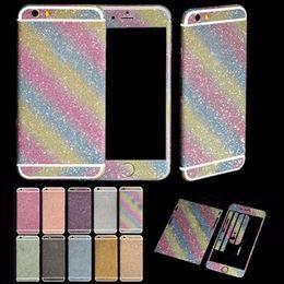Wholesale Iphone Back Decal - Full Body Bling Diamond Matte Decal Glitter Back Film Sticker Case Cover Skin For Apple iPhone 5 5s SE 6 6s 6Plus