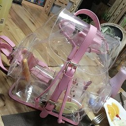 Wholesale Mouse Backpack - Wholesale- YOUYOU MOUSE Jelly Transparent Bags Summer Version Casual Female Shoulders Bag Clear Cute Personalized Backpacks Top Quality