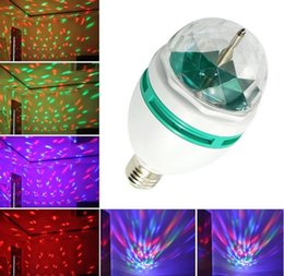 Wholesale E27 Sound - E27 RGB LED Blubs LED Effects Stage Lighting Auto Sound activated Full Color Rotating Lamp Disco Party Bar Club Effect Lights