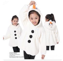 Wholesale Kids Goose Down Coats - 2016 New Children Coat Snow Treasure Cartoon Coat Kids Winter Outerwear Coat Trade OLAF Cotton-Padded Clothes Winter Girls Jacket