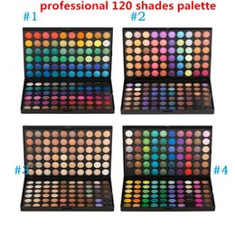 Wholesale Wholesale Wedding Wear - TOP Professional Wedding Makeup 120 color Eye Shadow Nake Makeup Eyeshadow Palette 120 Color Maquiagem Matte Shimmer Nude Eyeshadow Powder