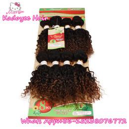 Wholesale Human Hair Bundle Packs - 8pcs per pack human Brazilian hair bundles jerry curly kinky curly hair weave ombre two tone bundles for black women whoelsale price