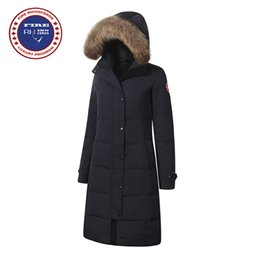 Wholesale Ladies Duck Down Jackets - Real Big Raccoon fur 2017 Brand New Womens Goose Down Jacket Winter Jacket Warm kensington Shelburne parka Ladies Fashion X-Long Style Coat