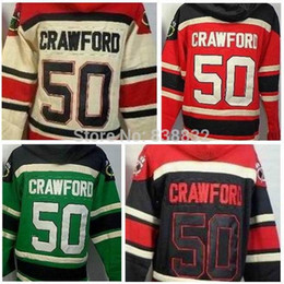 Wholesale China Sweatshirts - Cheap Corey Crawford Hoodie #50 Ice Hockey Jerseys Chicago 2014 Old Time hoodies sweatshirt Free Shipping From China