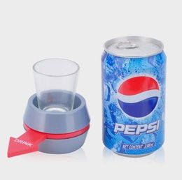 Wholesale Kids Shooting Toy - Mixed Grey Blue Spin The Shot Glass Turntable Toys Drinking Game Shot with Spinning Wheel Bar Games Party Favors C3108