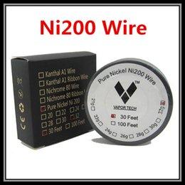 Wholesale Feet Temperature - Vapor Tech Pure Nickel Ni200 TC Wires Temperature Control 30 Feet 22g 24g 26g 28g 30g 32g Gauge For DIY Atomizers RBA Coils