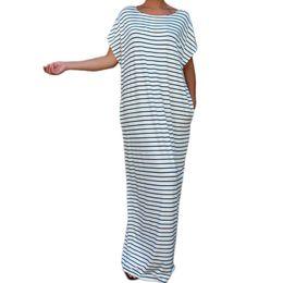 Wholesale Hot Women Mini Skirts - 2016 Hot Selling Casual Dresses Black and white bar bat large size new paragraph dress Skirt Loose Long Dress Cheap Women Maxi Dresses