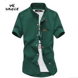 Wholesale Lycra Wholesale Shirt - Wholesale- 2016 Gradient Men Denim Shirts Short Sleeve Camisa Chambray Mens Dress Shirt Collar Button Up Men Shirts Chemise XXXL,YK UNCLE