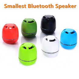 Wholesale Card Sized Mobile Phone - Hot Selling Low Price New Smallest Pocket-size Portable Wireless Mini Handsfree Bluetooth Speaker with TF Card Slot