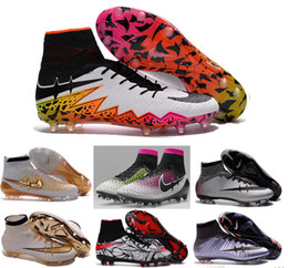Wholesale Shoe Lace Socks - 2016 tf turf Superfly FG AG Soccer Shoes High Ankle Football Boots ACC Men Outdoor Superfly CR7 Cleats With Socks Free Shipping