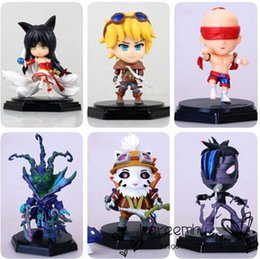 Wholesale Ezreal Figure - Teemo Amumu Ahri Lee Sin Ezreal Thresh PVC Doll Action Figure Toys WIth Box Retail Free Shipping