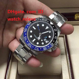 Wholesale Mechanical Movements - Mens High Quality Luxury AAA Watch GMT Noob Factory V2 Ceramic Bezel 40mm 116710LN 116710blnr 116710 ETA 2813 Movement Automatic Mens Watch