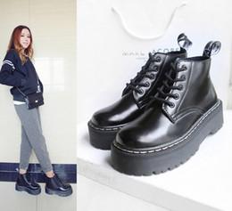Wholesale Japanese Laced Shoes - 2016 British retro shoes Japanese Harajuku female pantshoes motorcycle boots Martin boots Women's shoes