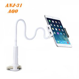 Wholesale Tablet Pcs Stand - Flexible Desktop Phone Tablet Stand Holder For iPad Mini Air Samsung For Iphone 3.5-10.5 inch Lazy Bed Tablet PC Stands Mount