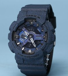 Wholesale Acrylic Drops - New color G110 men military denim watches climbing running swimming camouflage 110 100 sport shock watch Drop Ship