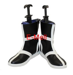 Wholesale Bleach Cosplay Shoes - Wholesale-Cosplay BLEACH Kurosaki Ichigo boot Men's Shoes High Quality Leather Boots Custom 6843
