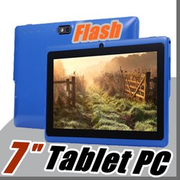 """Wholesale Android Tablet Google Play Store - 5X Allwinner A33 Quad Core Q88 Tablet PC Dual Camera 7"""" 7 inch capacitive screen Android 4.4 512MB 4GB Wifi Google play store flash E-7PB"""