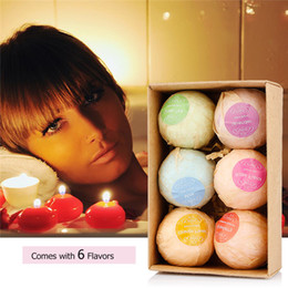Wholesale Bath Set Box - VIP DHL ONLY Bath Bombs gift set(6PCS a box) Bath Salts Ball soaps Handmade Bath ball