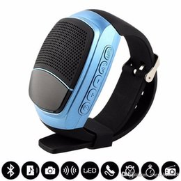 Wholesale Free Mp3 R - B90 Mini Bluetooth Speaker Smart Watch Speaker Wireless Subwoofers Speaker With Screen Support TF FM USB VS DZ09 U8 BT808 free shipping R-YX