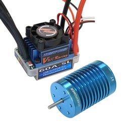 Wholesale Esc For Brushless Motor Car - HP 60A ESC Brushless Speed Controller + 9T 4400KV BL Motor for 1 10 1 12 RC Car