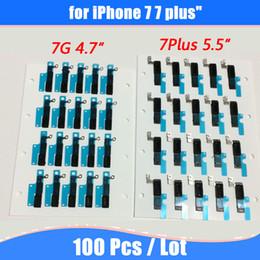 Junta de iphone online-Para iPhone 7 7Plus 4G 4S 5G 5s 5c 6 4.7 5.5 Auricular Auricular Altavoz Autoadhesivo Antipolvo Parrilla Rejilla de goma Junta de repuesto Parte
