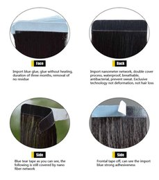 Wholesale Tape Hair Extensions 1b - 8pcs human hair weave and tape in human hair extensions 1B 4# and 613 color 24inch 28inch free shippment