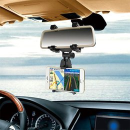 Wholesale View Mounts - Rear view mirror car phone bracket Universal Car Rear View Mirror Mount Phone Holder Bracket For All Smartphone Car Phone Stents