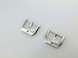 Reloj pulsera de acero 18mm online-18mm Nueva banda de reloj de acero inoxidable de plata de alta calidad pulseras de la correa hebilla de corchete uso para bandas de reloj IWC