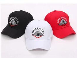 Wholesale Free Style Pyramid - Wholesale- High quality New style adjustable men Hats hip hop Unisex pyramid Baseball Caps Casual black white red diamond hat Casquette bone