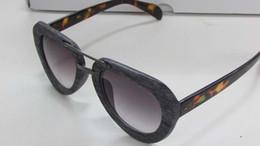 Wholesale femme mirror - 2016 High Quality Women Brand designer Sunglasses Acetate Wood Grain Sun shades gradient Sun Glasses Lunette De Soleil Femme