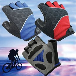 Wholesale Cs Gloves - Wholesale Men Half Finger Outdoor Sports Gloves Anti skid Cycling Gloves Wearable Fitness Gloves Shooting Bicycle Motorcross CS Game