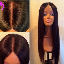 Wholesale Hair Wig Burgundy Heat - Hot Silky Straight Synthetic Lace Front Wig Color #1B #2 #3 #4 #6 Top Quality Heat Resistant Fiber Hair Synthetic Wigs For Black Women