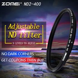 Wholesale Neutral Density Filter Nd2 - Slim Adjustable Neutral Density ND2-400 Filter for Canon Nikon Camera Lens 49 52 55 58 62 67 72 77 82mm