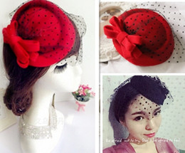 Wholesale Indian Tiaras - MisS Linda 2016 Muti-layer bow beret women fashion topper Woolen beret winter headdress hair clip Stage hat children hat hair accessories