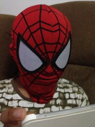 Wholesale High Quality Movie Masks - Movie Cose High Quality The Amazing Spider-man 2 Mask Spiderman Mask Spandex Hero Face Mask With Lenses