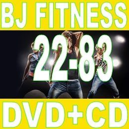 Wholesale Bj Video - Top-sale Free Shipping New Routine BJ 22 - 83 Aerobics Fitness Exercise Videos BJ22-83 Video DVD + Music CD