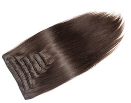 """Wholesale European Clip Remy Hair - 26"""" 120g Full Head Remy Clip in Human hair extension Black Brown Blonde optional larger stock"""