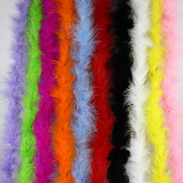 Wholesale Chicken Blue - 200cm Chicken Feather Strip Wedding Marabou Feather Boa,Burlesque Fancy Dress,party decoration 10 Color,10Pieces  lot