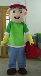 Wholesale Handy Manny Costume Mascot - SX0720 With one mini fan inside the head a handy manny mascot costume for adult to wear