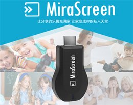 Wholesale Hdmi Sticks - New MiraScreen OTA TV Stick Dongle Better Than EZCAST EasyCast Wi-Fi Display Receiver DLNA Airplay Miracast Airmirroring Chromecast V1627