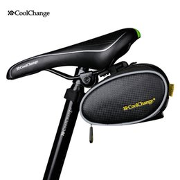 Wholesale Bicycle Seat Saddle Bag - 2016 CoolChange Waterproof Mountain Road Bicycle Tail Bag Saddle Bag Bike Pouch Cycling Seat BagDouble color