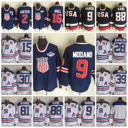 Wholesale Brian Leetch Jersey - Olympic Team USA Hockey Jersey 9 Zach Parise 88 Patrick Kane 81 Phil Kessel 16 Brett Hull 2 Brian Leetch Brian Rafalski Jerseys