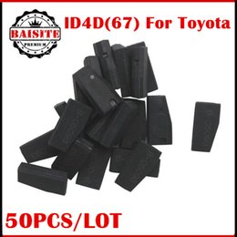 Wholesale Toyota Camry Car Key Blanks - Wholesale Price!!Blank ID4D67 4D67 PG1:32 Carbon auto car Transponder Chip For Lexus Toyota Camry Corolla key clone 50pcs lot free shipping