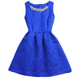 Wholesale White Ball Grown - 2015 Fashion Brand O-neck Sleeveless Vestidos Solid Ball Grown Women Dress Elegant Women Vestido Slim Bottoming Dresses 5 Colors