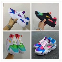Wholesale running gifts - Christmas gift 2016 New Huaraches Running Shoes Huaraches Rainbow Ultra Breathe Shoes Men & Women Huaraches Multicolor Sneakers Size 36-46