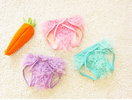 Wholesale Nappy Covers Ruffled - PrettyBaby lace diaper cover ruffle Newborn Reusable Diapers Nappies Cotton Training Panties Diapers Lace 3 colors free shipping